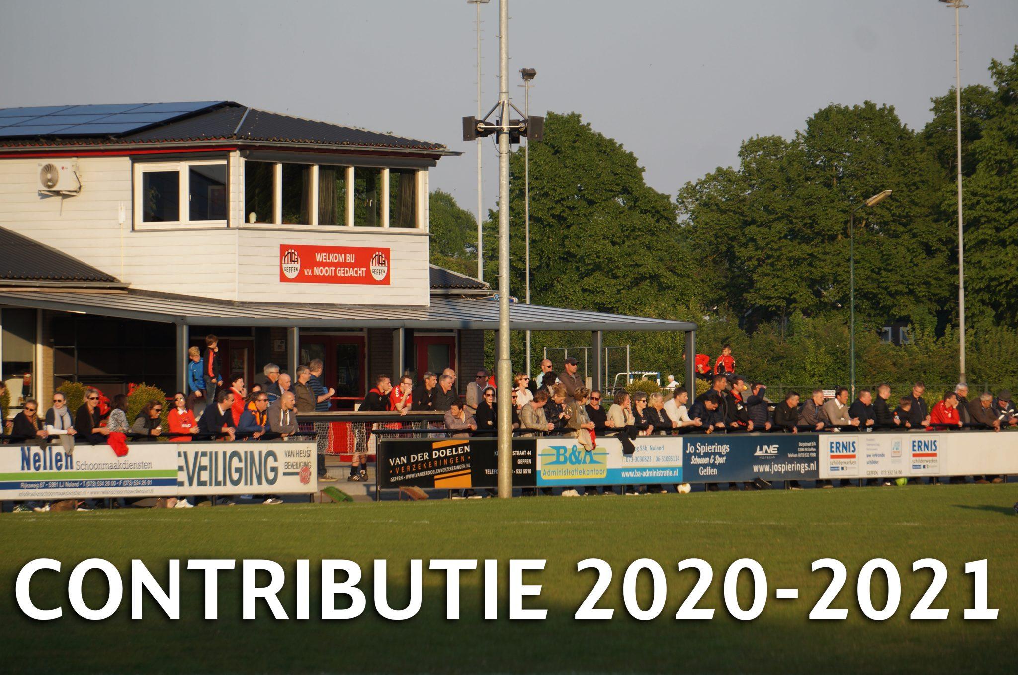 Informatie contributie 2020-2021