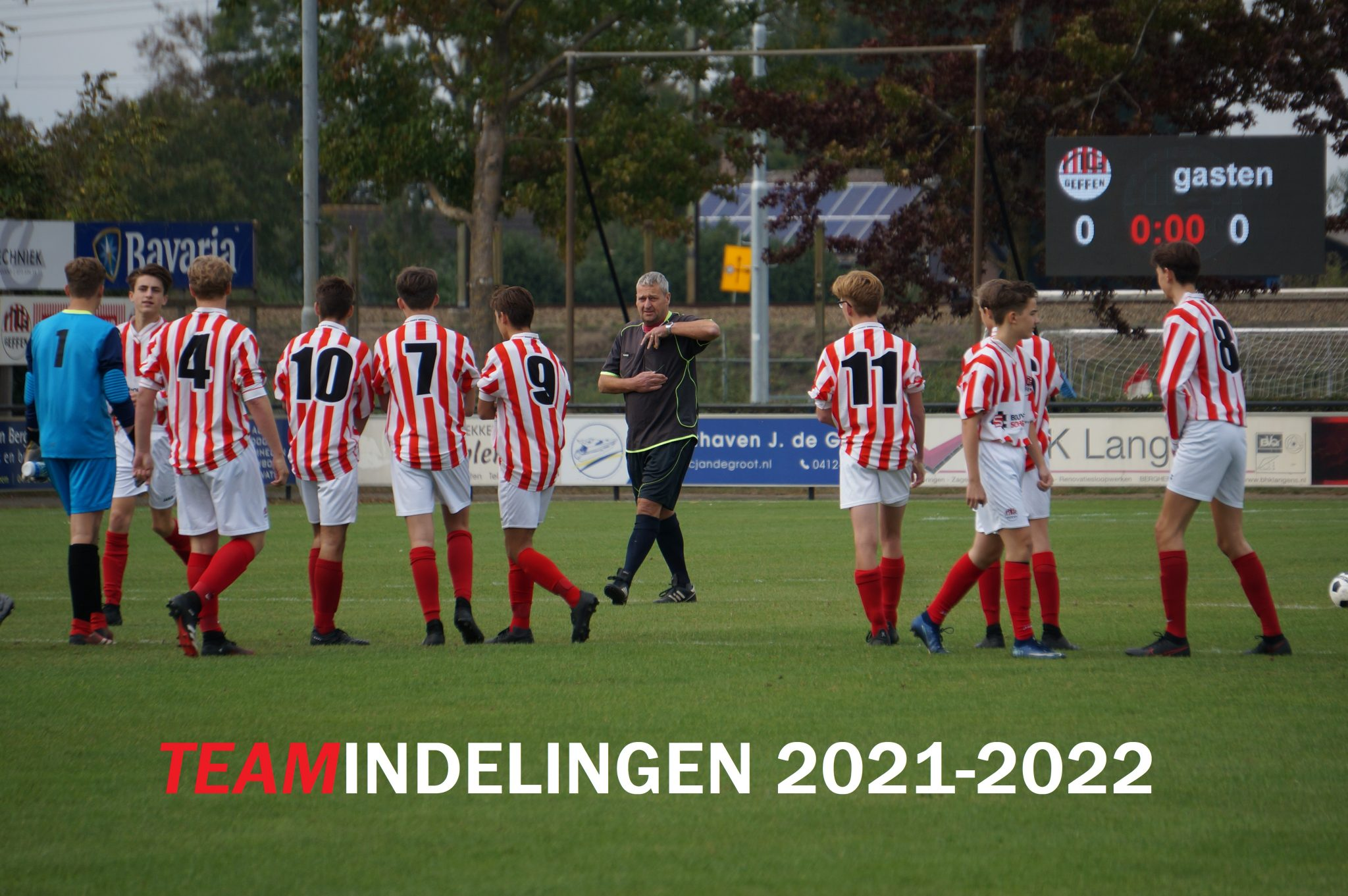 Indelingen teams seizoen 2021-2022