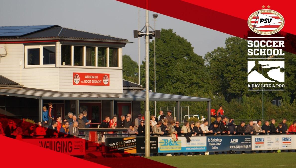 PSV Soccer School on Tour bij v.v. Nooit Gedacht op vrijdag 14 augustus