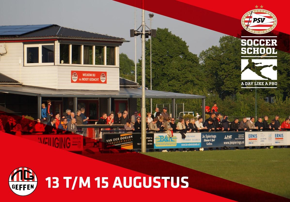 PSV Soccer school komt naar Nooit Gedacht!