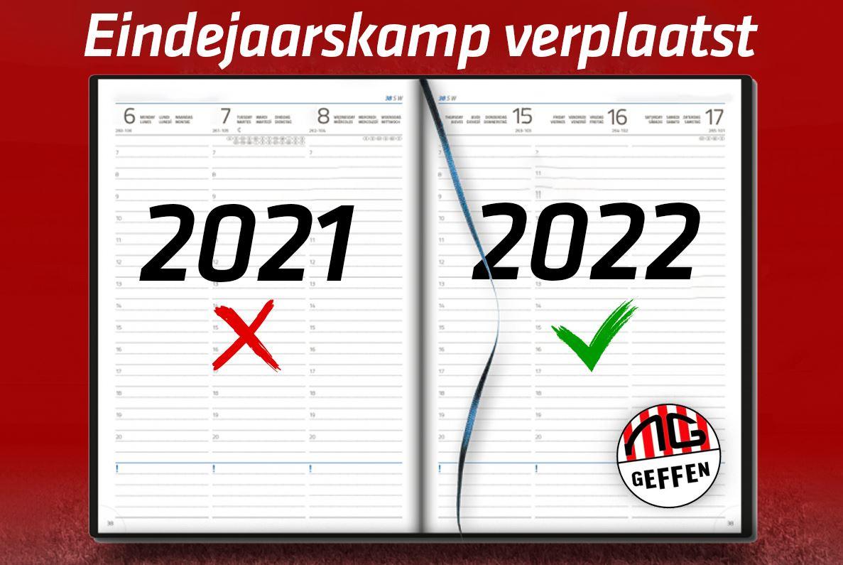Eindejaarskamp verplaatst naar 2022